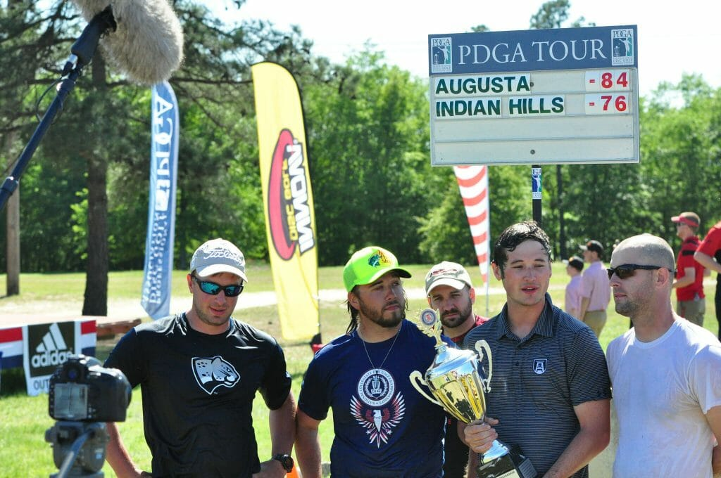 Augusta University collected the school's third national disc golf title. Photo: PDGA