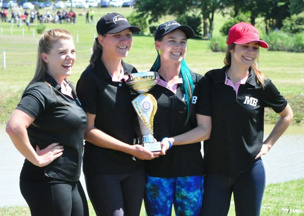 California State University-Monterey Bay took home its second consecutive women's team title. Photo: PDGA