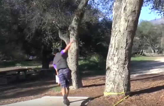 Paul McBeth tees off during the final nine of the Wintertime Open.