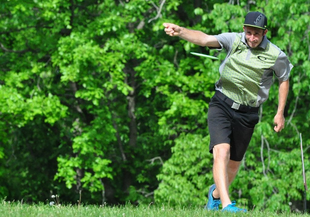 Ricky Wysocki pulled away from the field at the final day of the Kansas City Wide Open. Photo: PDGA