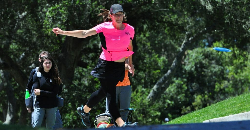 Valarie Jenkins will play on a men's card this weekend at the St. Jude Disc Golf Charity Invitational. Photo: PDGA