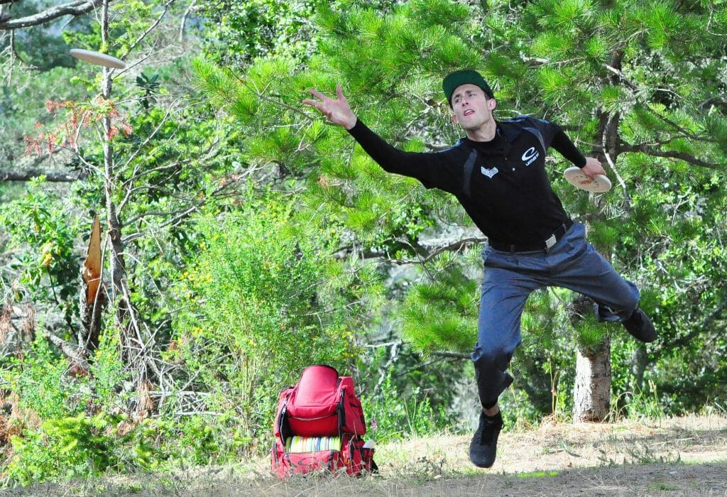 Ricky Wysocki jumped into second place with the hot round yesterday at the Masters Cup. Photo: PDGA
