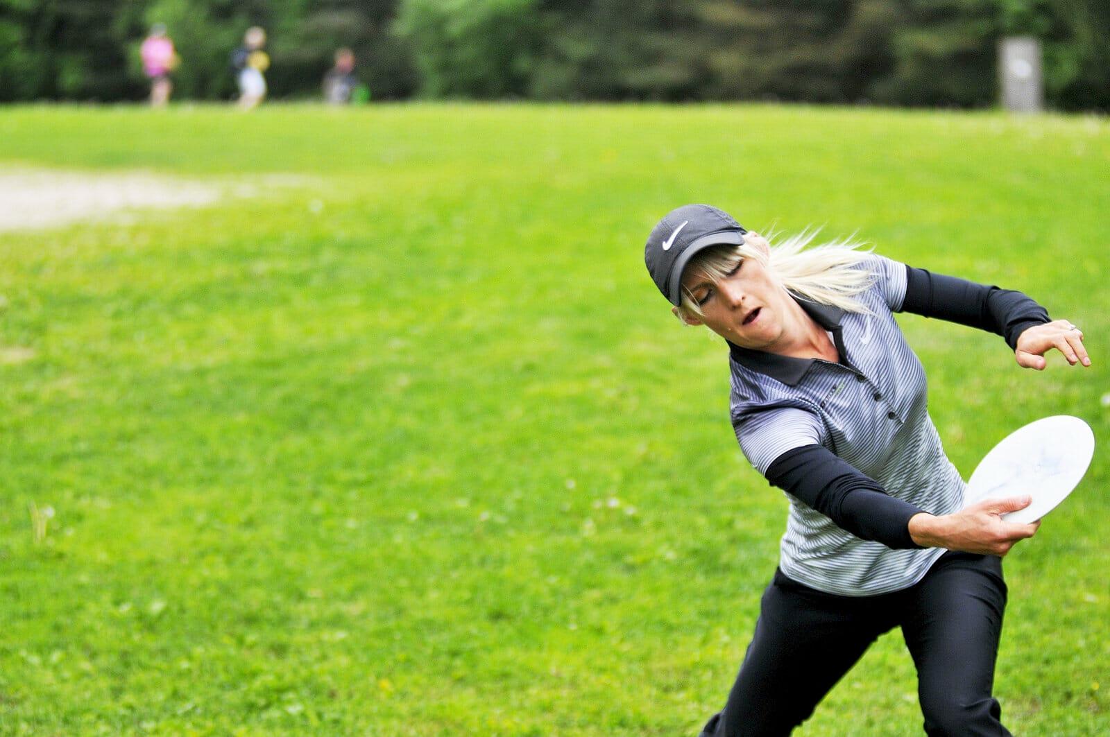 Catrina Allen drives at the Tali Open. Photo: Jarl Huotari, Tali Open