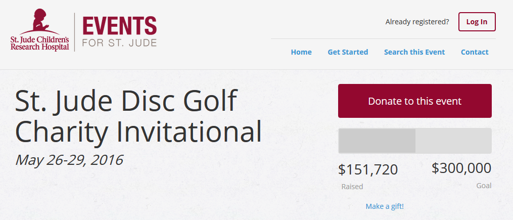With only one day until the event, fundraising for the St. Jude Disc Golf Charity Invitational is way behind schedule.