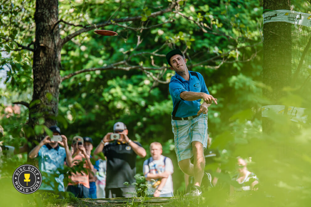Ricky Wysocki started off hot to take a share of the lead after the European Open's first round. Photo: Eino Ansio, Disc Golf World Tour