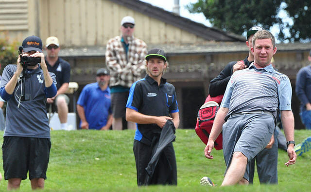 "Though this photo shows otherwise, Nate Sexton is the best on tour at being able to avoid going ""on tilt."" Photo: PDGA"