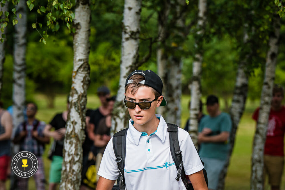 Eagle McMahon has his eyes on a victory after setting a course record during the European Masters' second round. Photo: Eino Ansio, Disc Golf World Tour