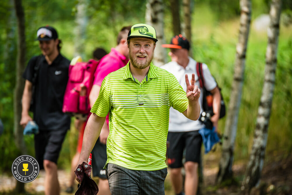 K.J. Nybo will be heading to the European Disc Golf Championships and the United States Disc Golf Championships with fan support. Photo: Eino Ansio, Disc Golf World Tour
