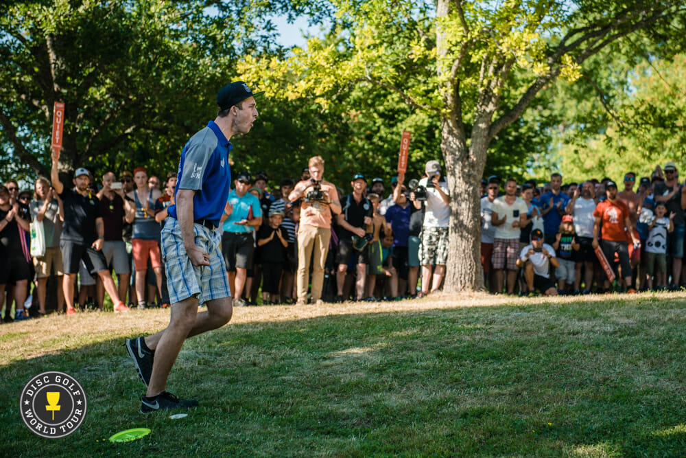 Ricky Wysocki led from start to finish at the European Masters in Stockholm, Sweden. Photo: Eino Ansio, Disc Golf World Tour
