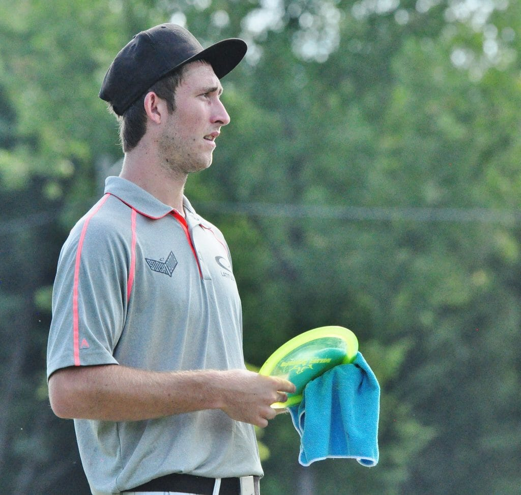 Ricky Wysocki has claimed the hot round two days running to hold the lead at the Brent Hambrick Memorial Open in Columbus, Ohio. Photo: PDGA