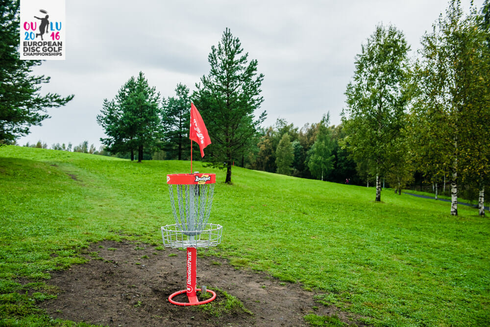 The European Disc Golf Championships are underway at the Meri-Toppila DiscGolfPark in Oulu, Finland. Photo: Eino Ansio
