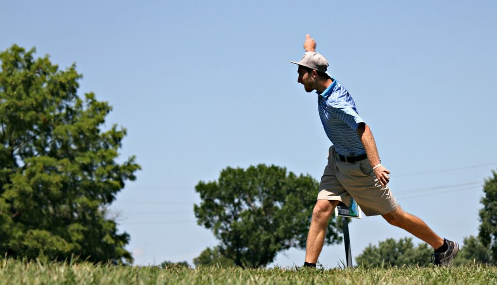 Despite being hobbled by a sprained right ankle, Ricky Wysocki shot a 14-under par first round. Photo: Rebecca Heiam