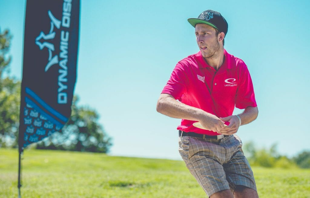 Ricky Wysocki shot yet another hot round as he padded his lead at the PDGA Professional Disc Golf World Championships in Emporia, Kansas. Photo: Juan Luis Garcia, Overstable Studios