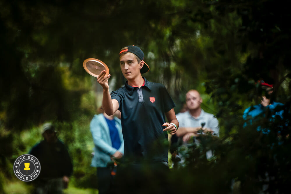 Eagle McMahon, shown here at the United States Disc Golf Championship, more than came of age in 2016. Photo: Eino Ansio/DGWT