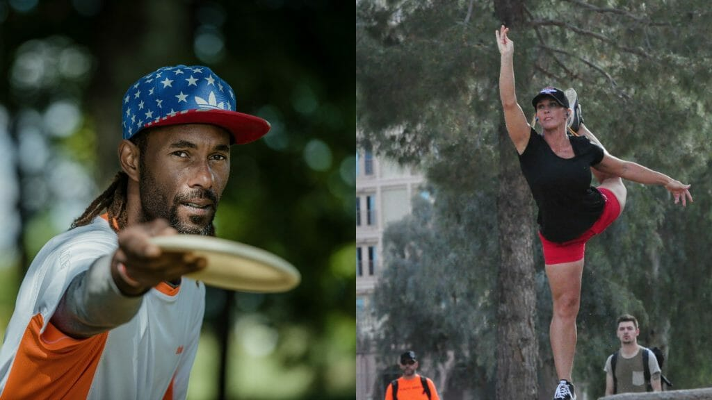 After strong 2016 seasons, Philo Brathwaite (left) and Jennifer Allen were elevated to Innova's Star Team. Photos: Innova Discs/PDGA