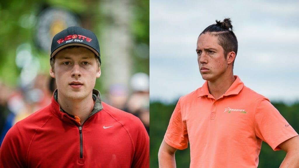 Simon Lizotte (left) and Paul Ulibarri. Photos: Eino Ansio, Disc Golf World Tour