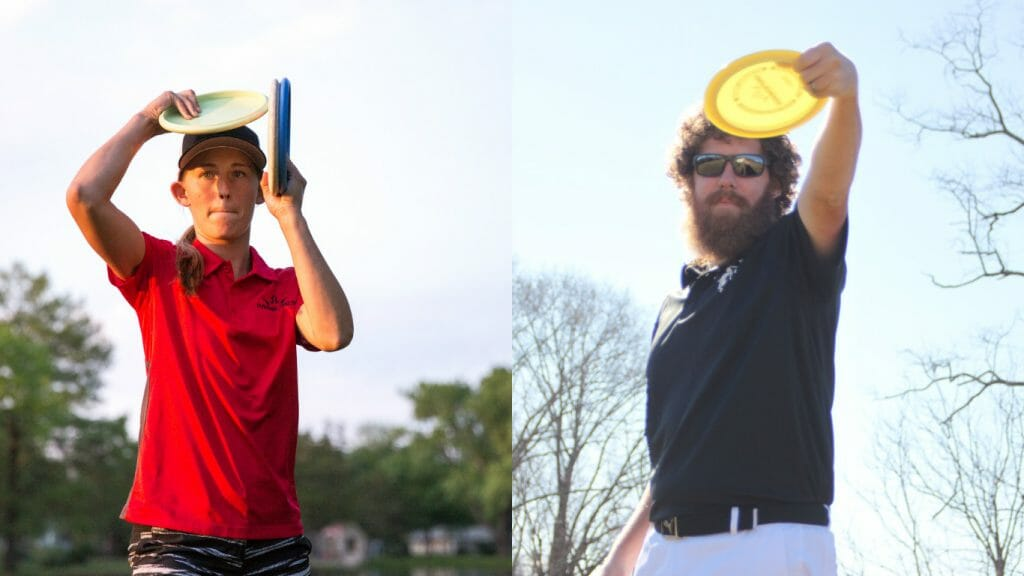 Paige Pierce (left) and Zach Melton are the newest members of the Dynamic Discs team. Photos: Dynamic Discs