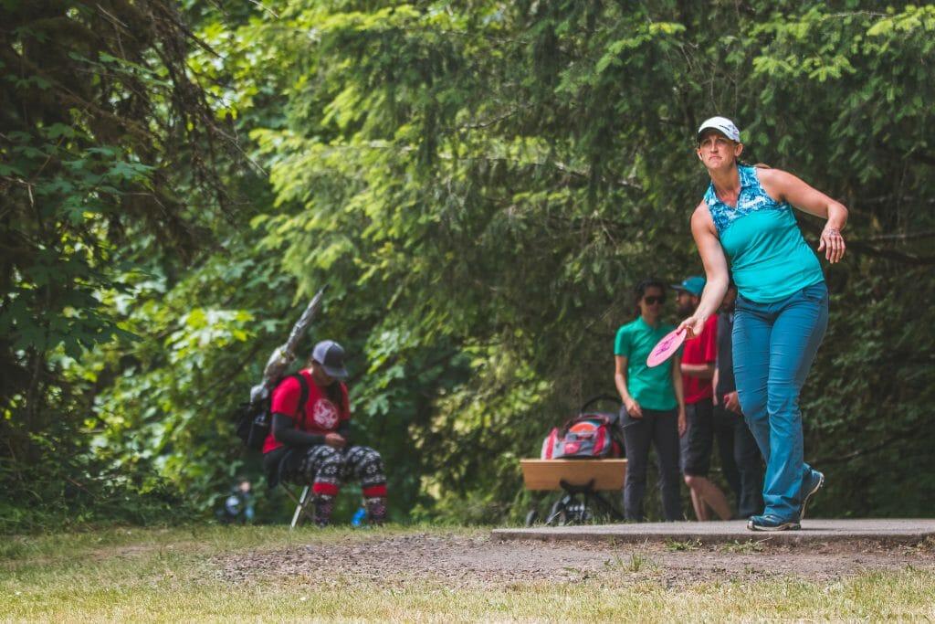 Sarah Hokom At The 2018 Beaver State Fling A PDGA National Tour Event Photo Alyssa Van Lanen